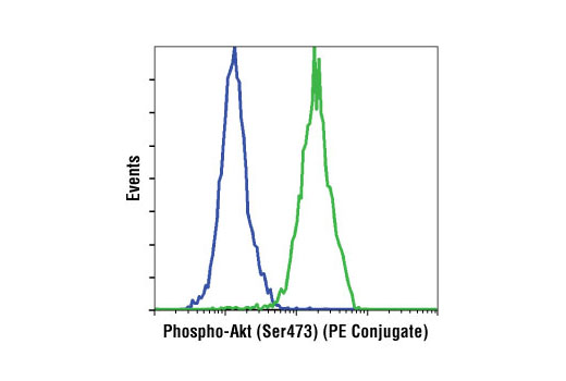 Flow Cytometry Image 1: Phospho-Akt (Ser473) (D9E) XP® Rabbit mAb (PE Conjugate)