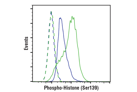 Flow Cytometry Image 1: Phospho-Histone H2A.X (Ser139) Antibody