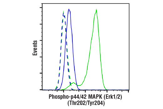 Flow Cytometry Image 1: Phospho-p44/42 MAPK (Erk1/2) (Thr202/Tyr204) (E10) Mouse mAb