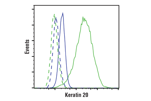 Flow Cytometry Image 1: Keratin 20 (D9Z1Z) XP® Rabbit mAb
