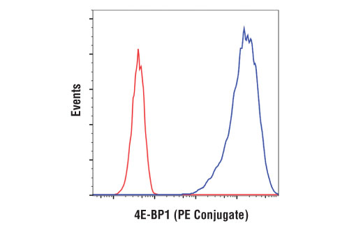 Monoclonal Antibody - 4E-BP1 (53H11) Rabbit mAb (PE Conjugate), UniProt ID Q13541, Entrez ID 1978 #34470, Flow Cytometry