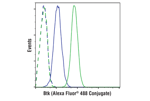 Flow Cytometry Image 1: Btk (D3H5) Rabbit mAb (Alexa Fluor® 488 Conjugate)
