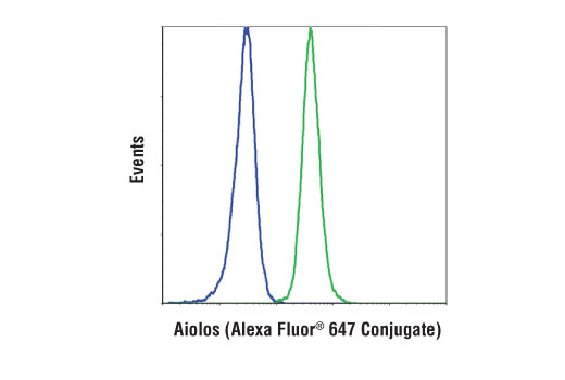 Flow Cytometry Image 1: Aiolos (D1C1E) Rabbit mAb (Alexa Fluor® 647 Conjugate)
