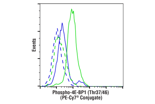 Flow Cytometry Image 1: Phospho-4E-BP1 (Thr37/46) (236B4) Rabbit mAb (PE-Cy7® Conjugate)