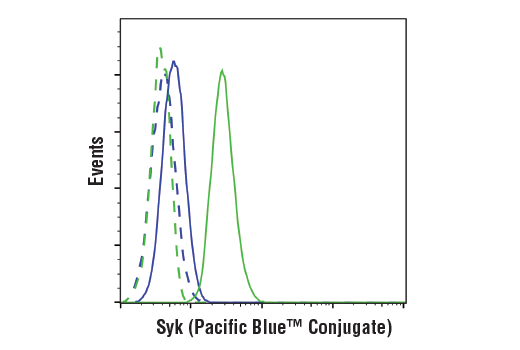 Monoclonal Antibody - Syk (4D10) Mouse mAb (Pacific Blue™ Conjugate), UniProt ID P43405, Entrez ID 6850 #95318 - Primary Antibody Conjugates