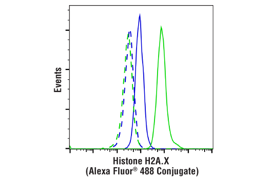 Flow Cytometry Image 1: Histone H2A.X (D17A3) XP® Rabbit mAb (Alexa Fluor® 488 Conjugate)