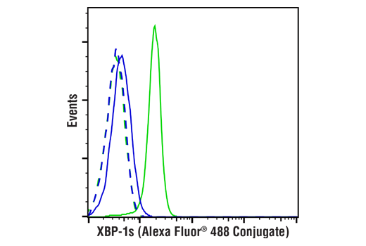 Flow Cytometry Image 1: XBP-1s (E9V3E) Rabbit mAb (Alexa Fluor® 488 Conjugate)