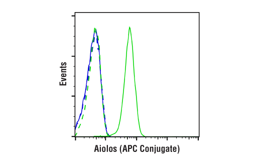 Flow Cytometry Image 1: Aiolos (D1C1E) Rabbit mAb (APC Conjugate)