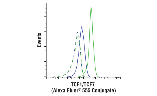Flow Cytometry Image 1: TCF1/TCF7 (C63D9) Rabbit mAb (Alexa Fluor® 555 Conjugate)
