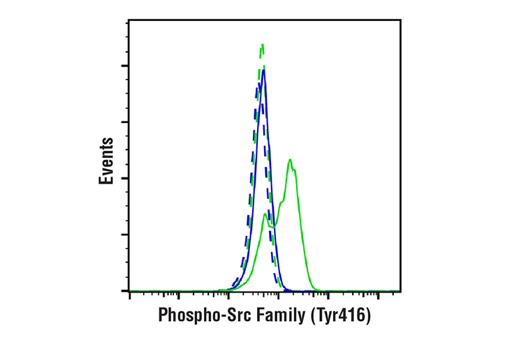 Flow Cytometry Image 1: Phospho-Src Family (Tyr416) (E6G4R) Rabbit mAb