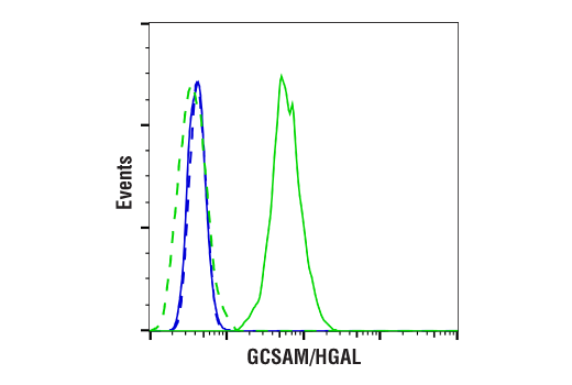 Flow Cytometry Image 1: GCSAM/HGAL (E7V1W) Rabbit mAb