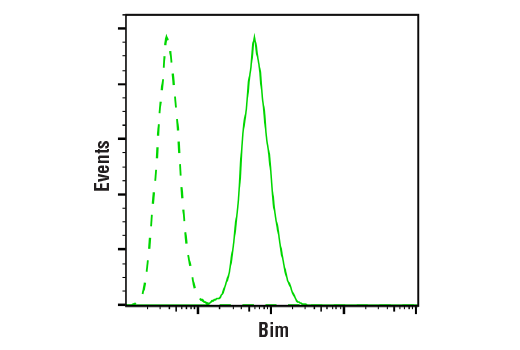Flow Cytometry Image 1: Bim (C34C5) Rabbit mAb
