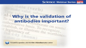Antibody Validation Roundtable: Specificity + Sensitivity + Reproducibility = Validation
